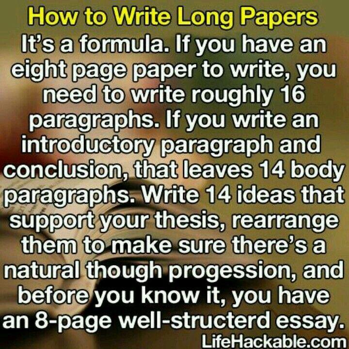 writing long essays