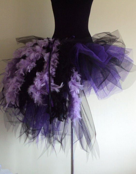 NeW purple TUTU SKIRT DANCE FANCY DRESS PARTY CHILD  Free headdress all colours