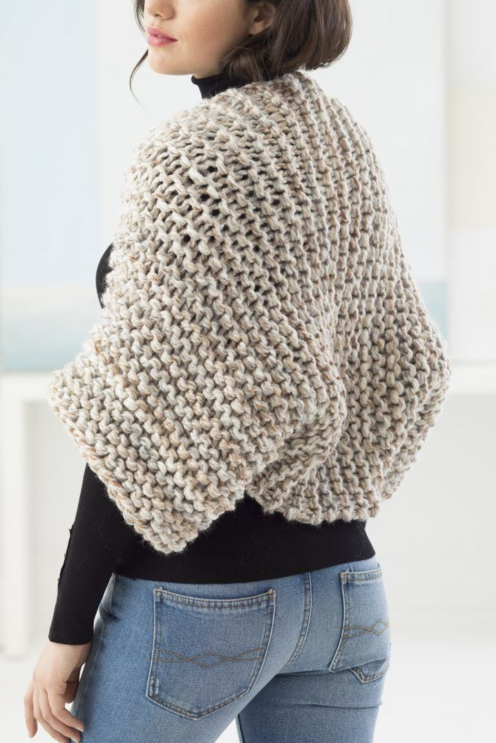 Free Knitting Pattern for Beginner Garter Stitch Shrug - This easy ...