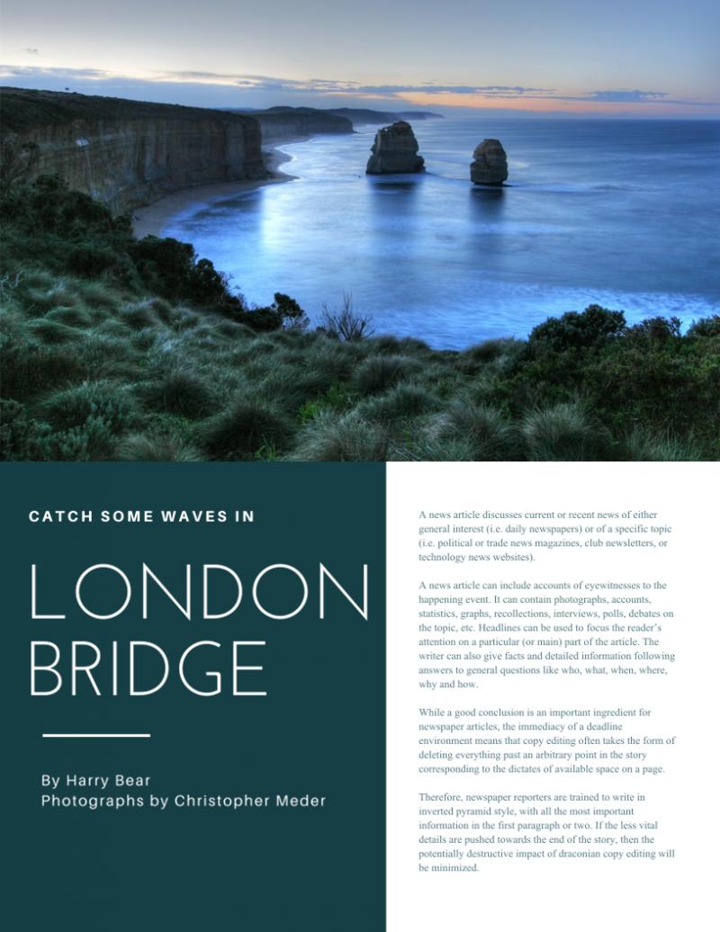 This Magazine Article About Beautiful Landscape In London Magazine Layout Inspiration Magazine Layout Travel Magazine Layout