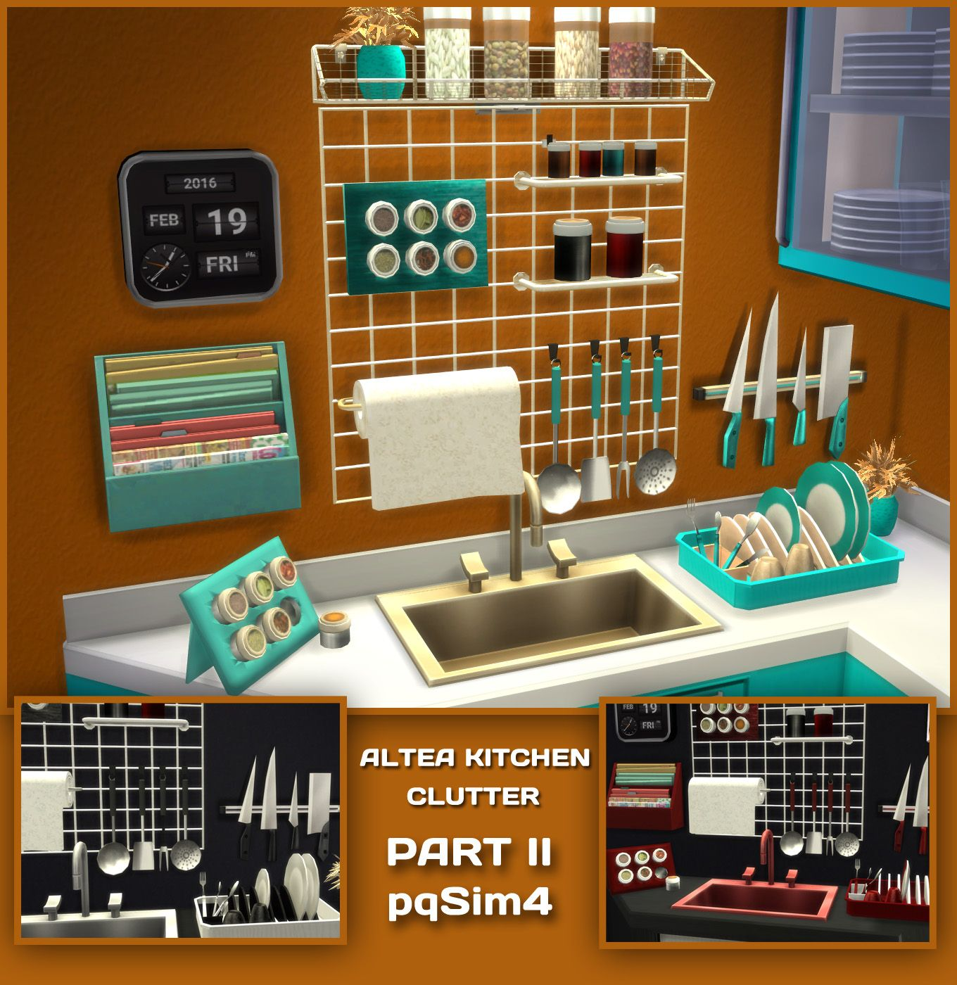 Altea Kitchen Clutter Part 2. Sims 4 Custom Content.