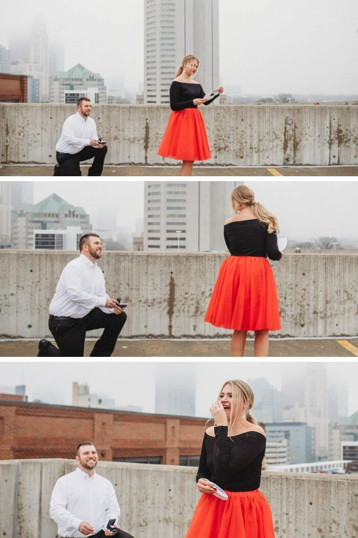 This emotional Valentine's Day marriage proposal has us in tears! Read the full story on How They Asked by The Knot! #photoshootproposal #engaged #emotional #bridetobe #weddingplanning