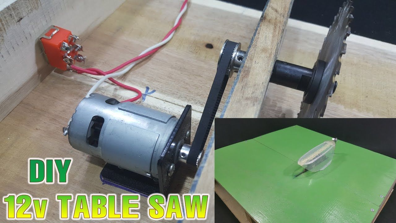 How To Make Powerful Table Saw 12volt With 775 Motor Stolarstvo