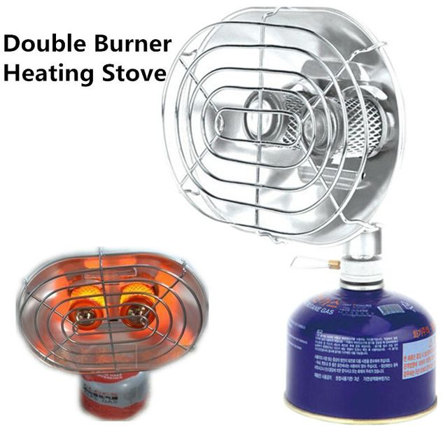 BRS Outdoor Fishing Camping Heating Stove Double Head Infrared Ray Warmer Heater