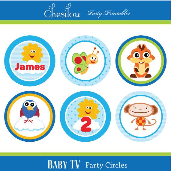 Customized Baby TV Birthday Invitation And Party Kit By Chesilou