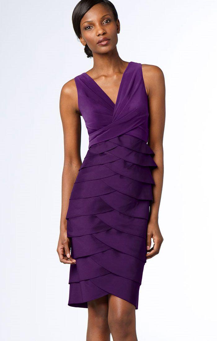 adrianna papell dresses | Adrianna Papell Jersey Purple Sheath Dress ...