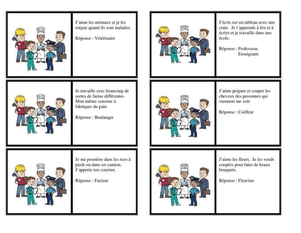 Connu Devinette metier | Métier | Pinterest FQ29