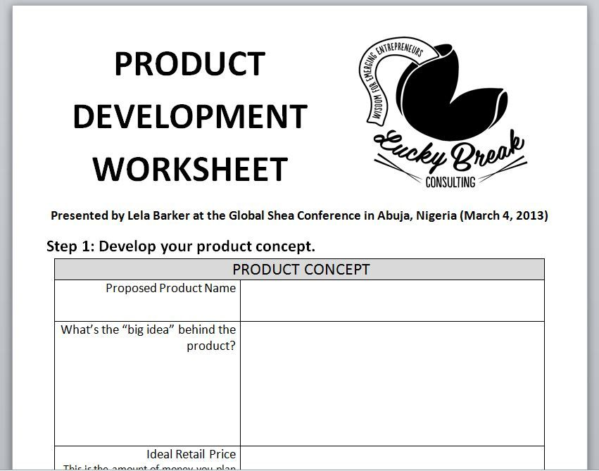 How To Bring A Product To Market Product Development Worksheet Product Development Process Girl Scout Juniors Development