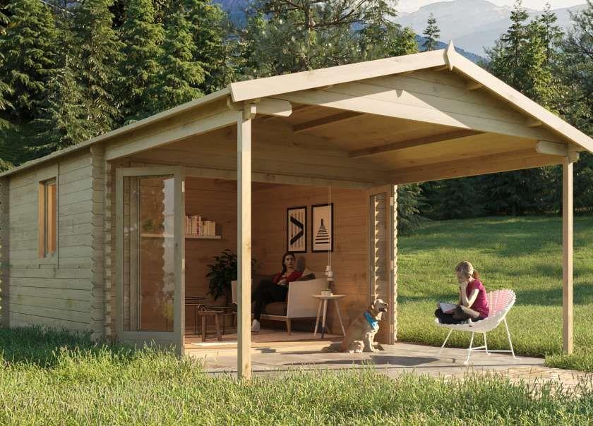 Alpholz Gartenhaus Lappland A ISO Bahçe kulübesi, Evler