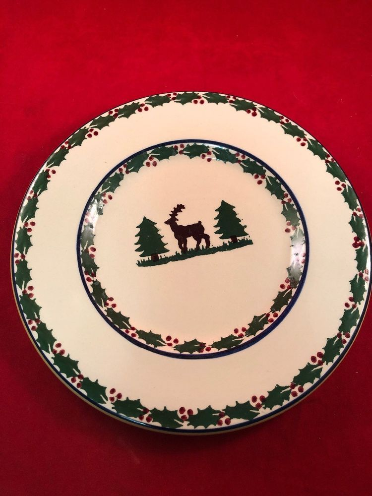 1 Nicholas Mosse Pottery Ireland Christmas Reindeer Trees Holly Lunch Plate Nicholasmosse Ho Nicholas Mosse Pottery Christmas In Ireland Christmas Reindeer