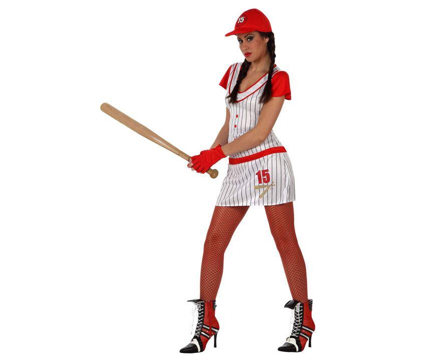 Disfraz de Jugadora de Beisbol Un disfraz muy cómodo y sexy de llevar 63aa44de876