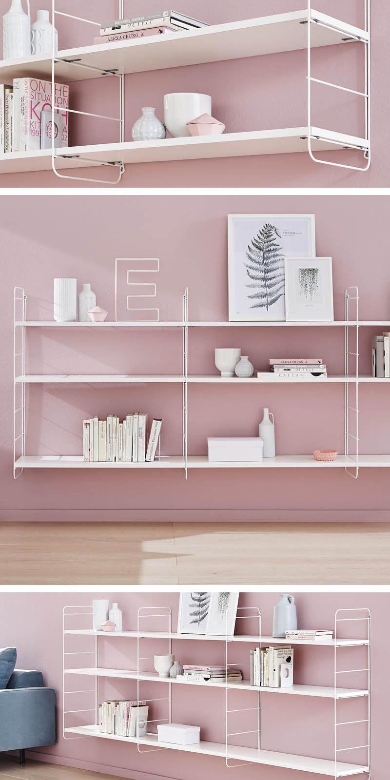 Schlichtes Wandleiter Regal Im Retro Stil Sehr Dekorativ Wohnzimmer