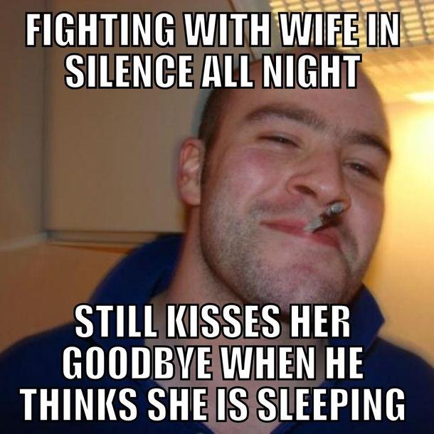 bebe28e00c916a170e22ebae0eb98253 best husband ever or cunning fight tactic i sure felt like garbage