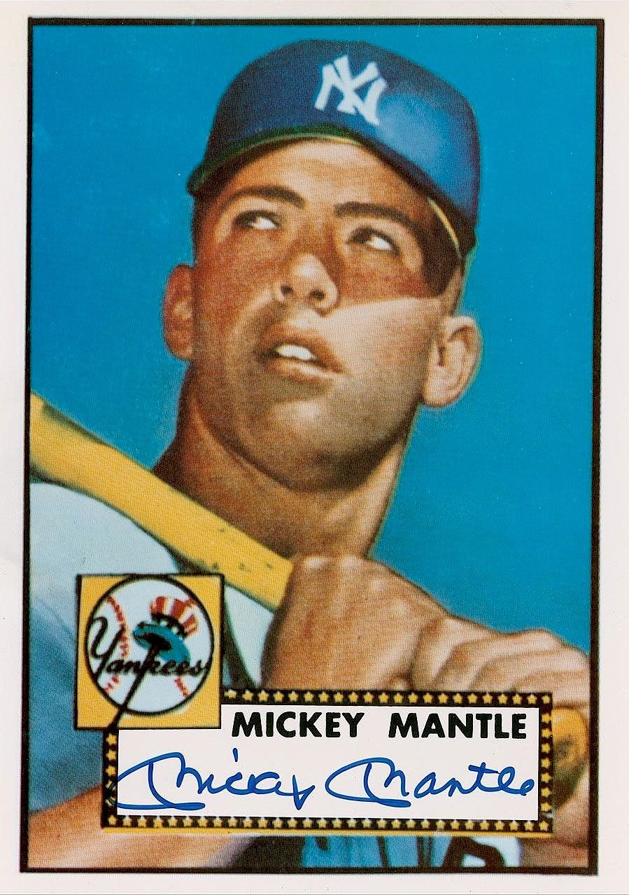 Mickey Mantle Baseball Card 1952 Mickey Mantle Baseball Cards Yankees Baseball
