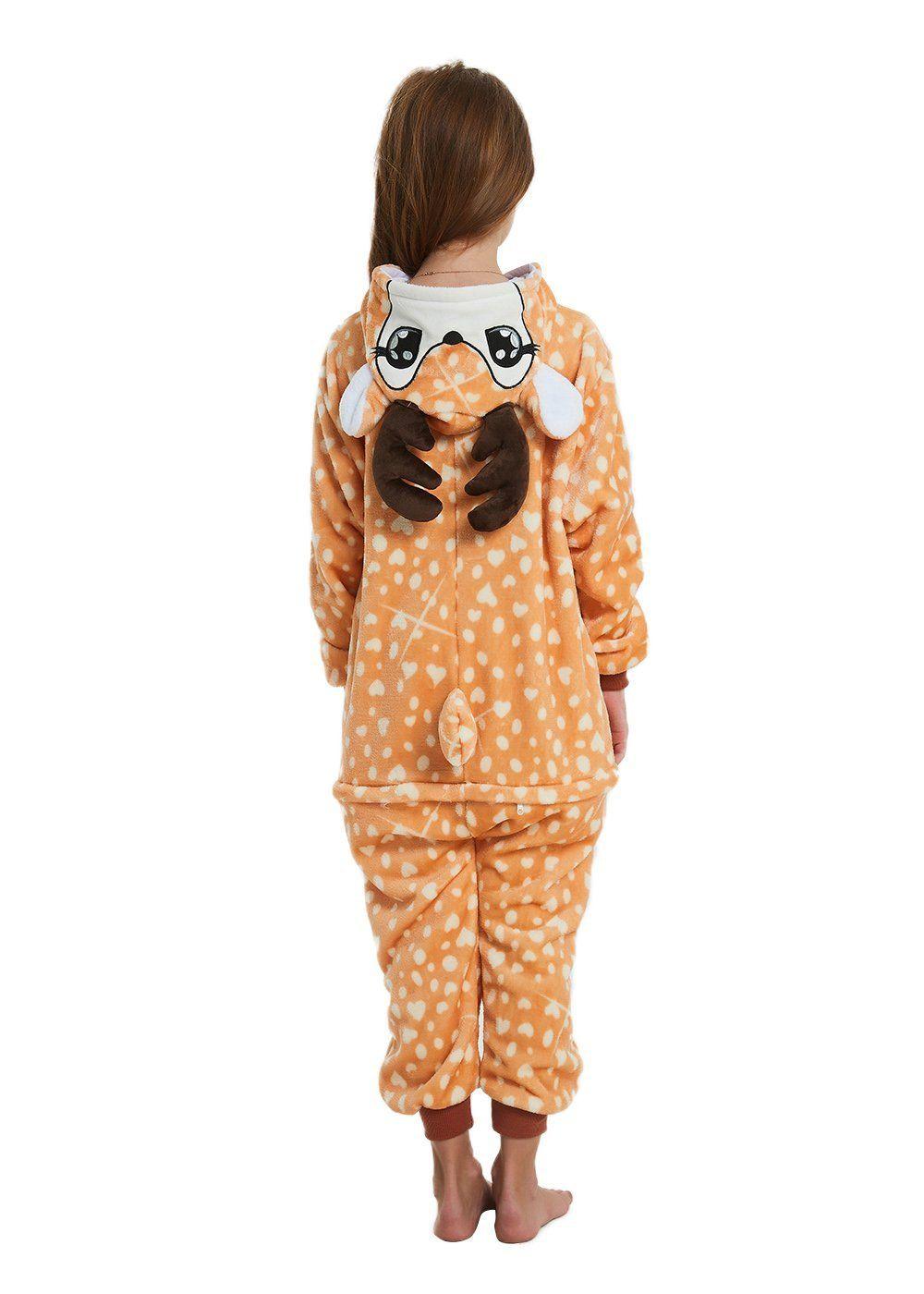 Abenca kids fleece onesie pajamas halloween christmas