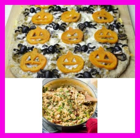 Individual 'pizzettes' with roasted onions and butternut squash, seasoned with rosemary and finished with Parmesan or Asiago cheese.  #Butternut #Squash #Pizzas #With #Rosemary #cheesesticks #spreadablecheese #bousincheeserecipes #myfoodandfamily #wholefoodsmarket #pumpkinbreakfastideas #gormetbreakfast #outfitsideen #makeupideen #breakfeastideen #sportideen