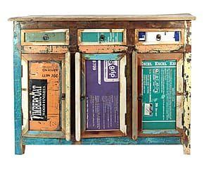 Credenza Con Ante E Cassetti : Credenza con ante e cassetti in legno massello vintage