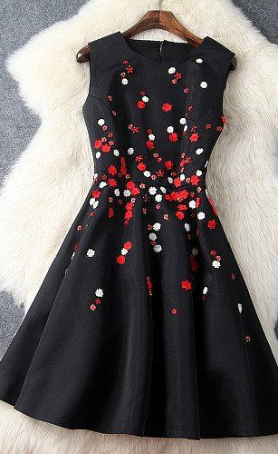 Black Beaded Dress