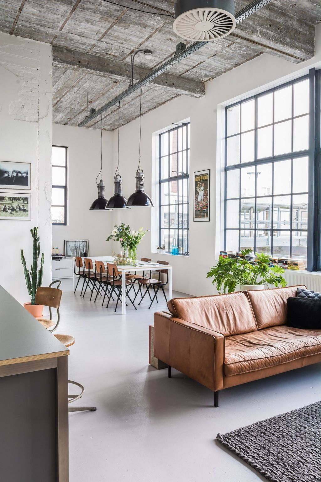 Feel Inspired With These New York Industrial Lofts | Pinterest ...
