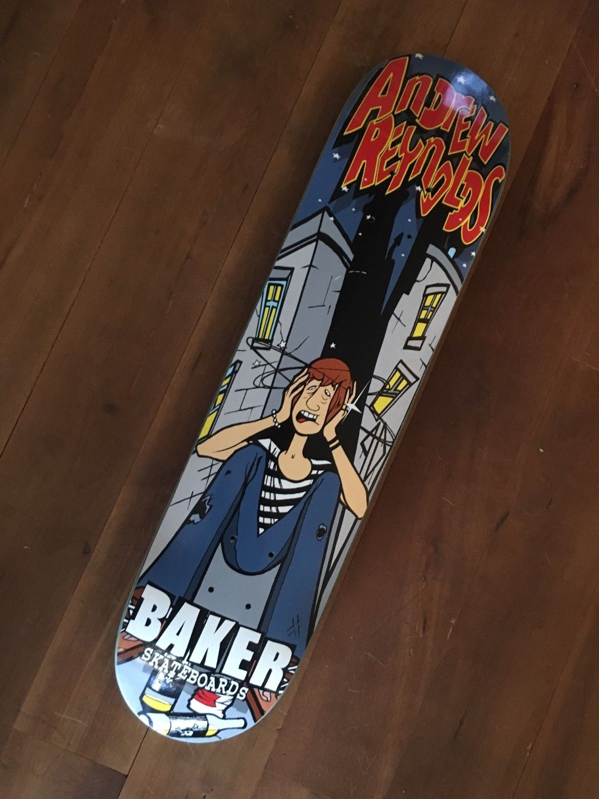 c4ecee3ca7 Details about Baker Skateboards Andrew Reynolds Honor Titus Art 8.5 ...