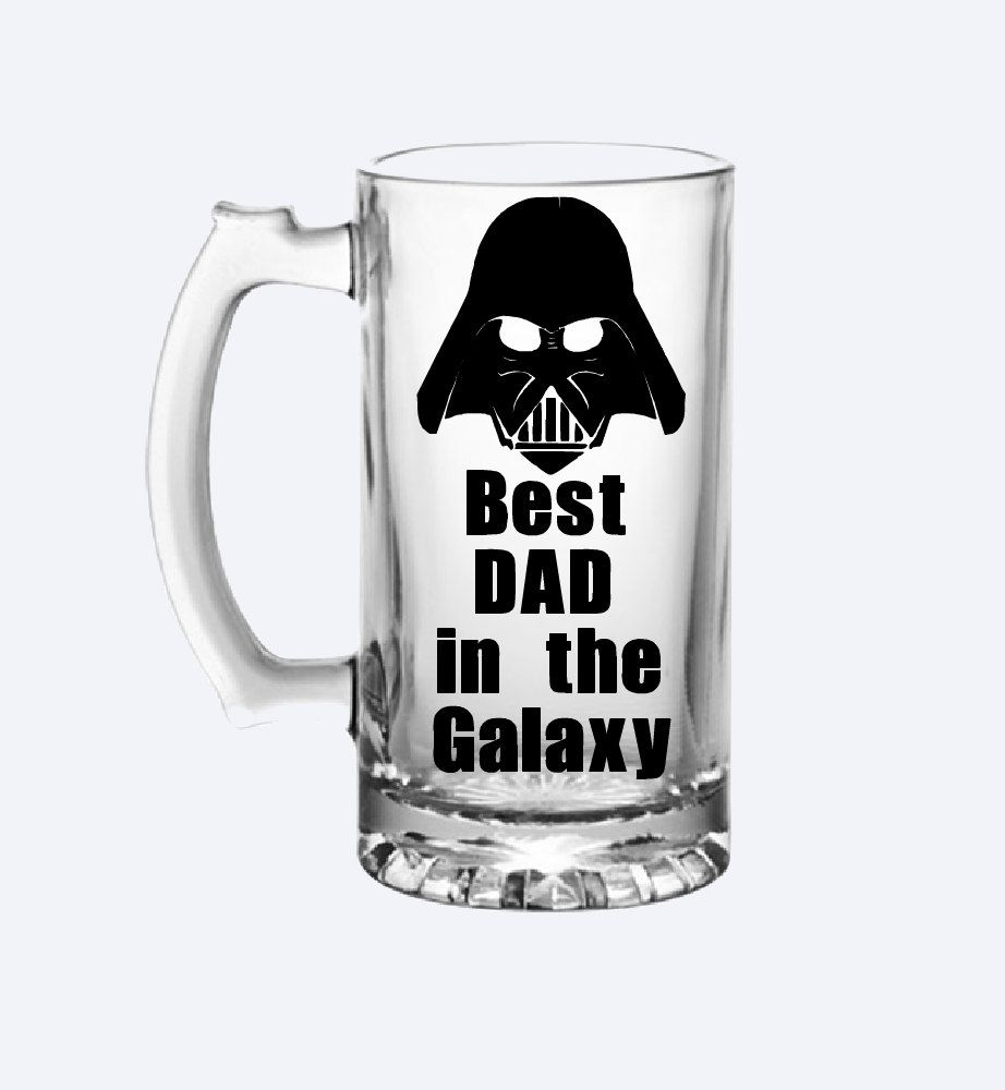 Best Dad In The Galaxy Engraved 15-ounce Beer Mug