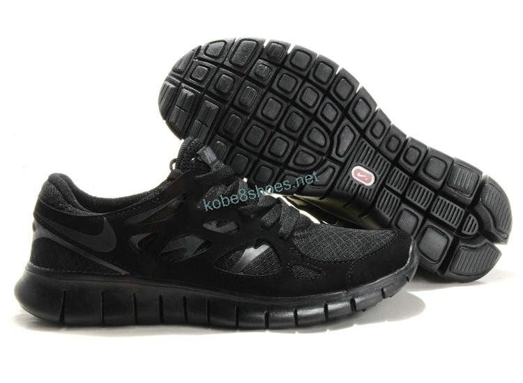 Nike Free Run 2 Mens Store Running Shoes All Black