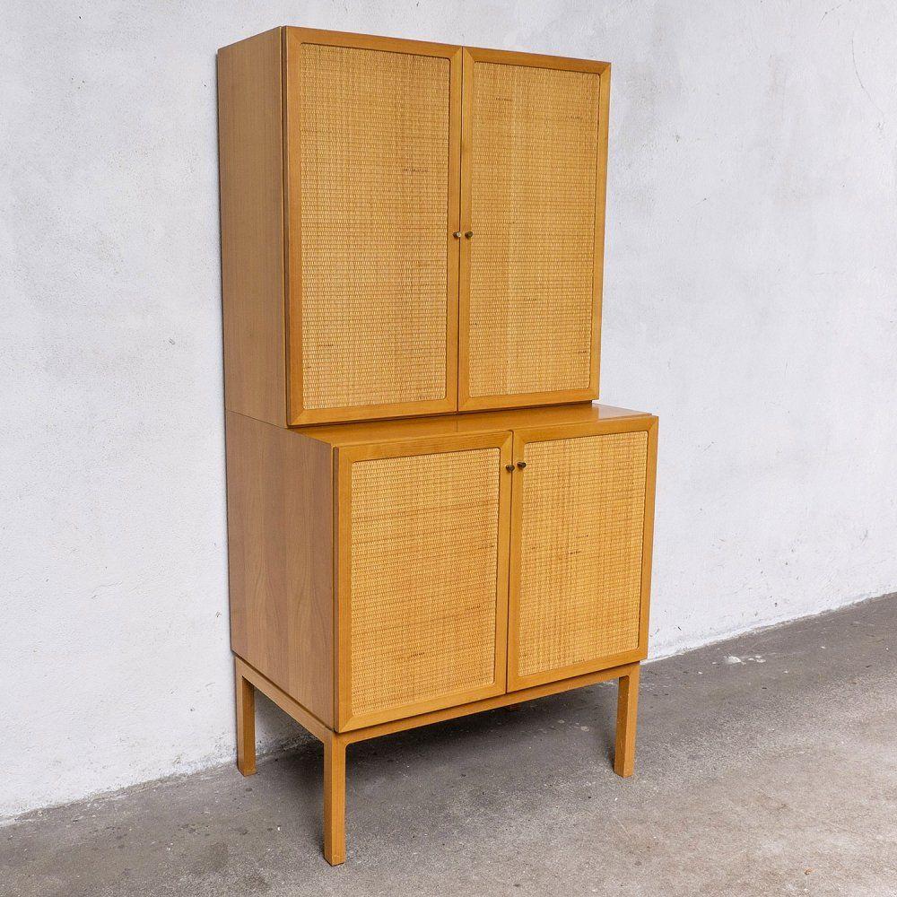 For Sale Cherry Wicker Kitchen Cabinet 1970s Cabinet Kitchen Cabinets Furniture