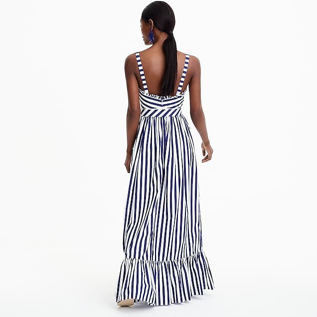 94617bf66f7 Striped ruffle maxi dress
