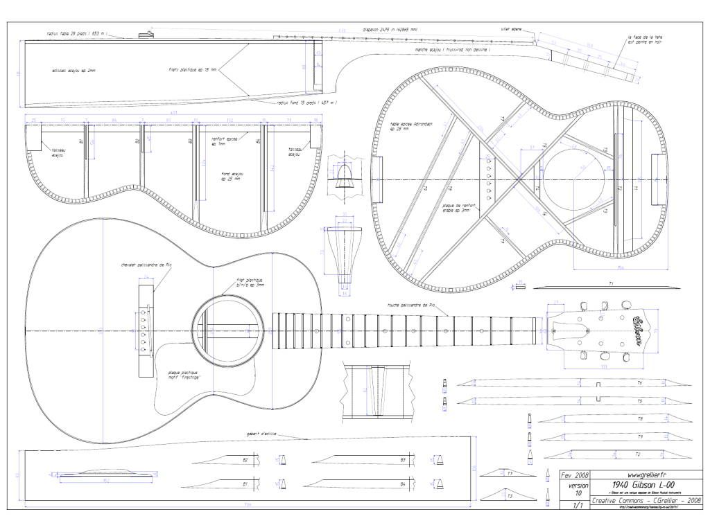 Guitar plans pdf free for Librecad templates download
