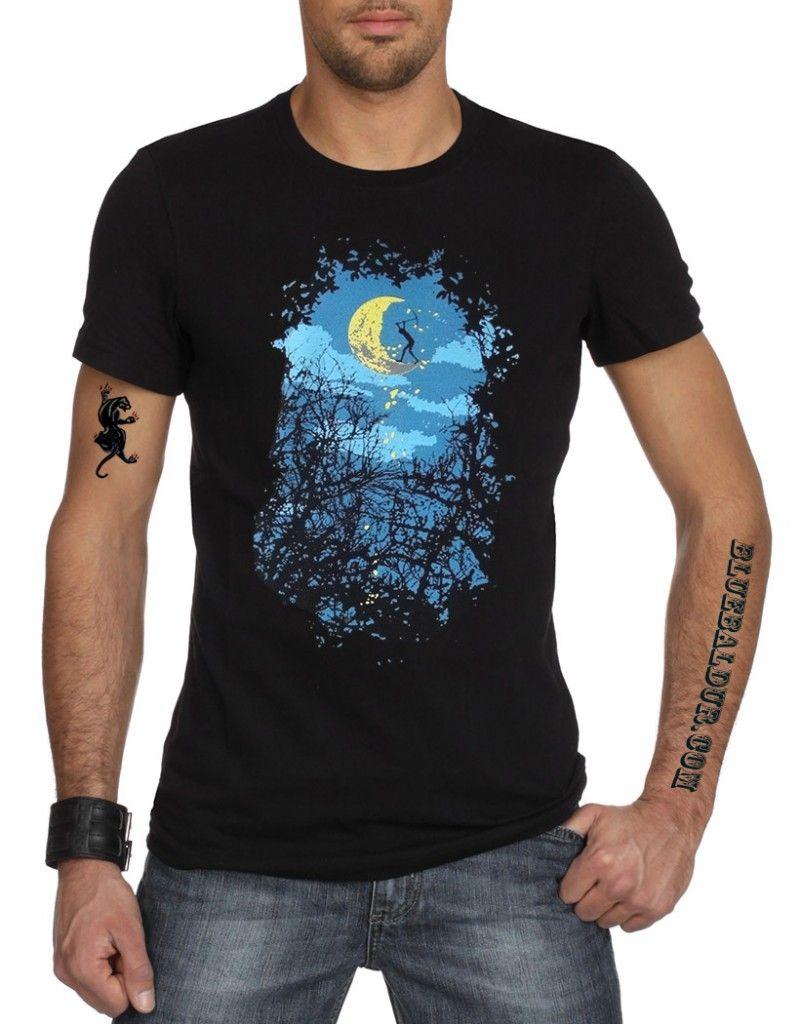 dde42f163ae03 Rockabilly · Estilo Masculino · Cráneos Y Calaveras · The Carving Out The  Moon T-shirt by Rocky Moda Hombre