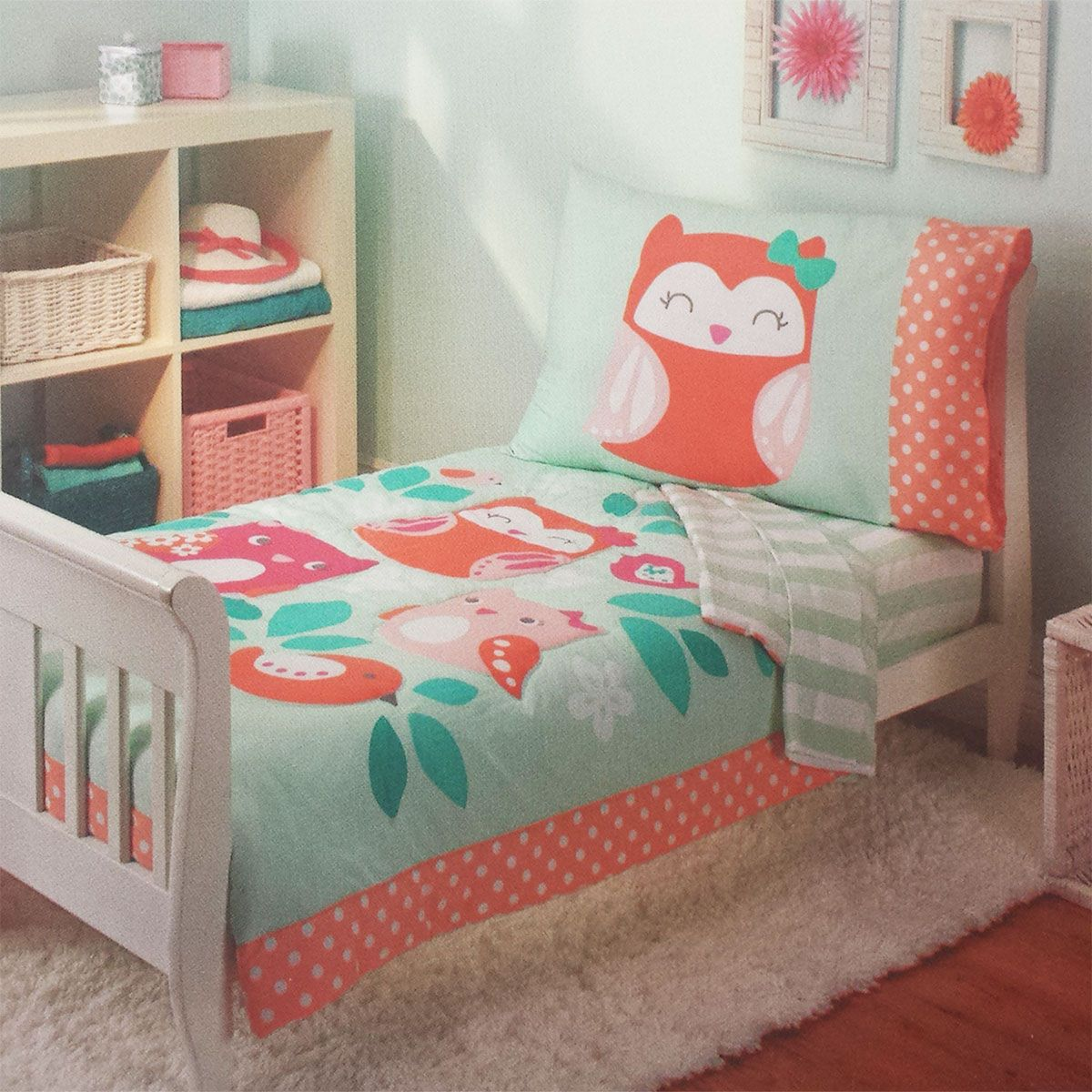 Carters Owls Toddler Bedding Set 4pc Too Cute To Hoot Comforter