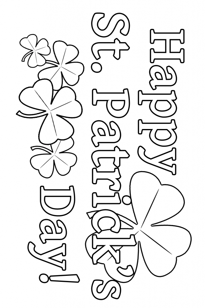 St Patrick S Day Coloring Page St Patrick S Day Crafts St Patricks Day Crafts For Kids St Patrick