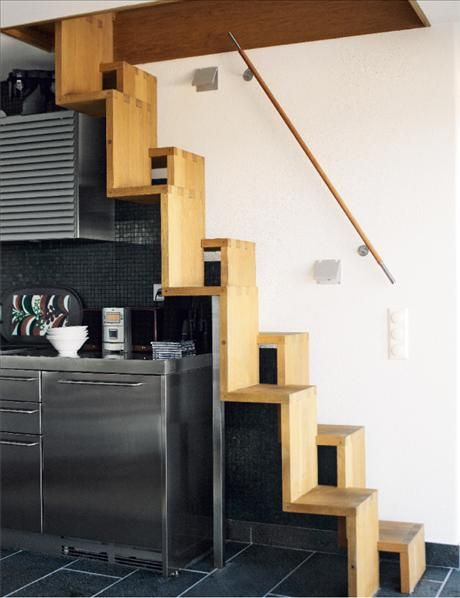 Space Saving Stairs Design, Pictures, Remodel, Decor and Ideas ...
