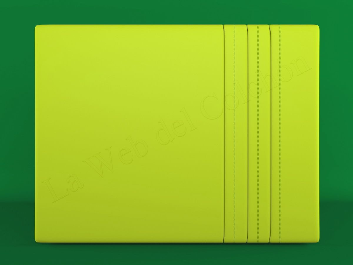 Cabecero vasilis pistacho sobre fondo verde cabeceros - Sofa verde pistacho ...
