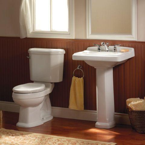 Portsmouth 24 Inch Pedestal Sink   American Standard Bathroom Sinks