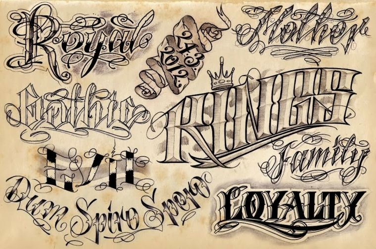 13 Letras chicanas para tatuar