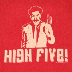 Borat Gif Awkward Borat Highfive Discover Share Gifs California Knows How To Party Gif Collection High Five