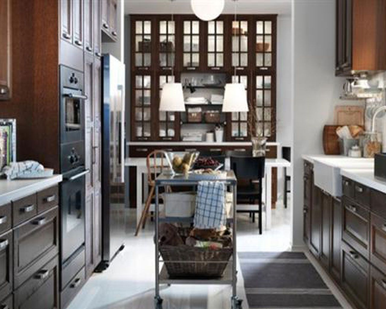 Spacious retroal kitchen and dining room design ideas by ikea ikea