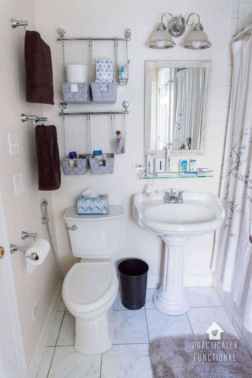 Pinterest Tiny Bathroom Storage Ideas