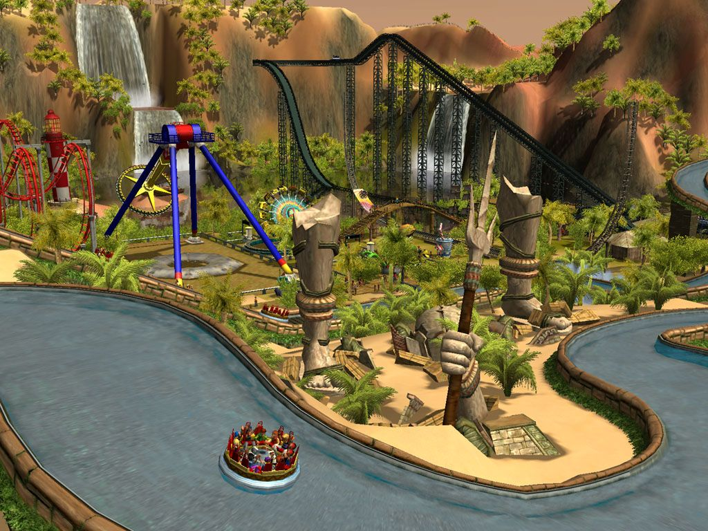 roller coaster tycoon 3 water slide - Google Search
