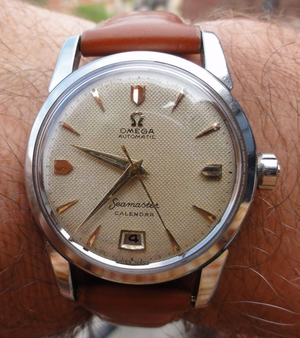 Superb Vintage Omega Seamaster Calendar With Date At Six In Bulova 90271 Jam Tangan Pria Silver Stainless Steel