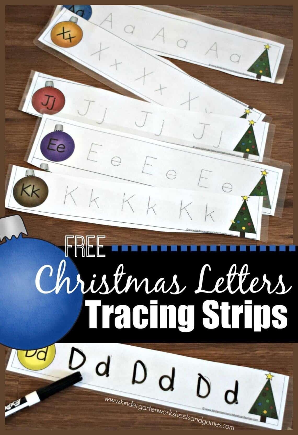 Christmas Letter Tracing Strips