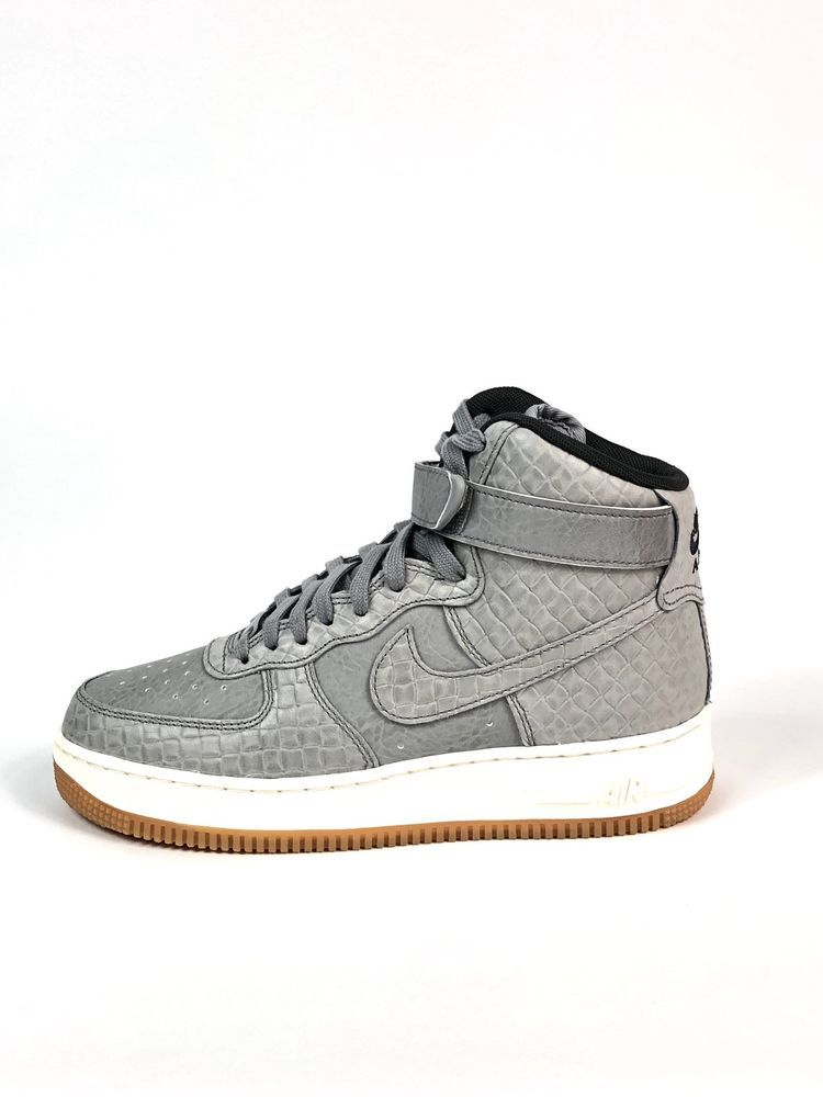 official photos b0cc8 a8aec Nike Air Force 1 HI Premium Womens Shoes Size 8 654440-008 Wolf Grey  110  New   eBay