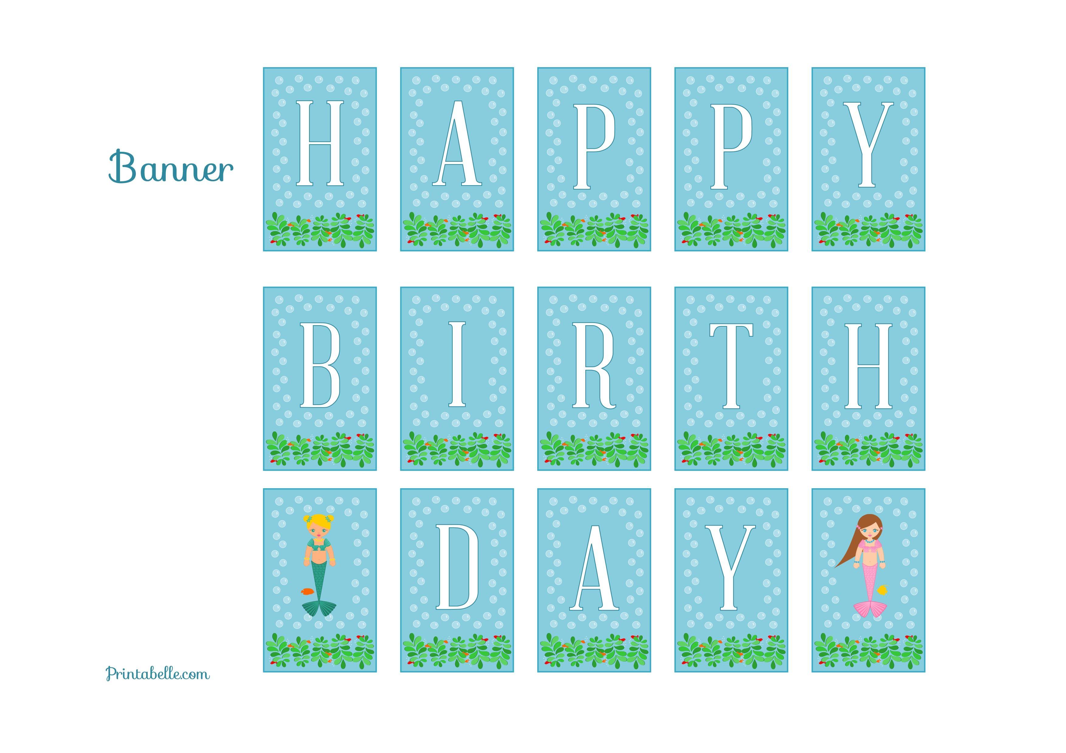 Free Mermaid Birthday Party Printables Mermaid Birthday Party