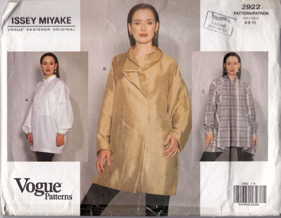 Issey Miyake Vogue 2922: centre blouse has very similar neck to ...