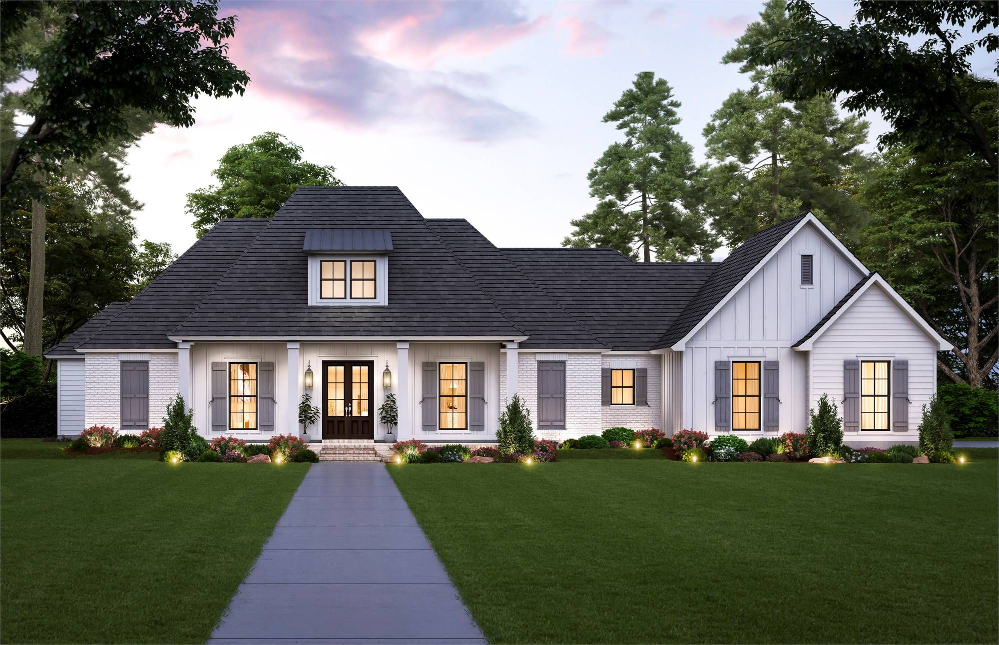 Beautiful Southern Style House Plan 8715 The Sandy Ridge Acadian House Plans Country Style House Plans French Country House Plans
