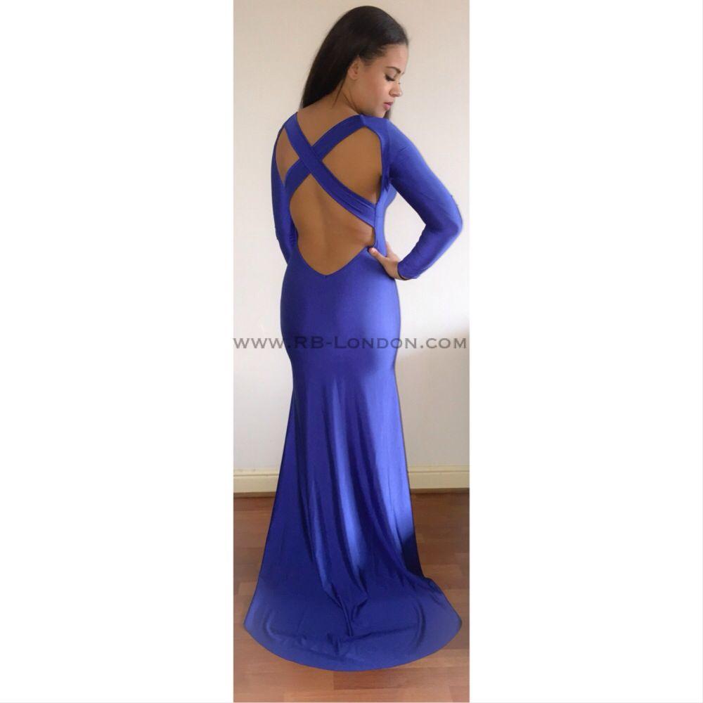 I 'Tarella' Cross Back Gown I £28 I  Coupon Code: LFW10 I Royal Blue/White/Black/Red I