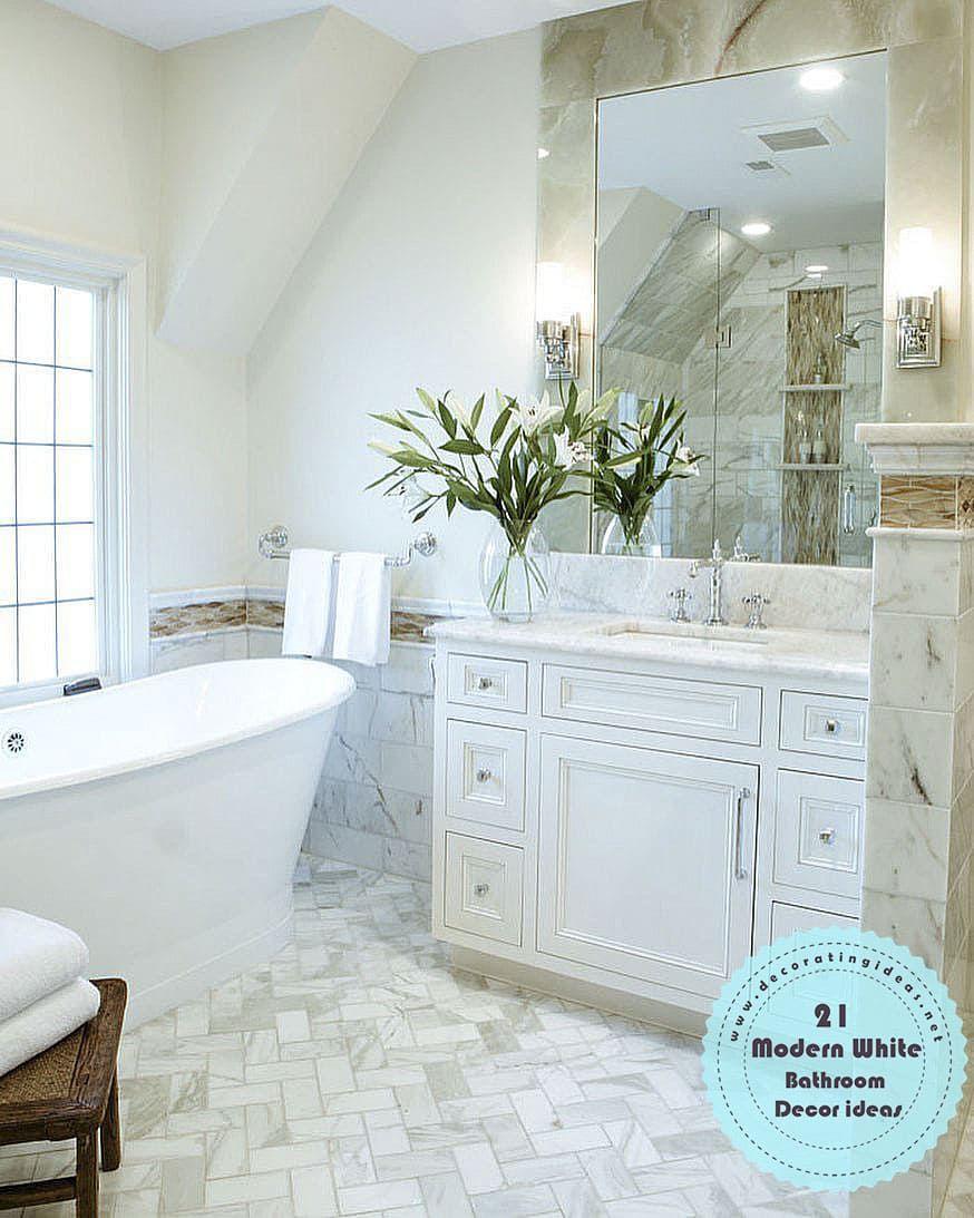 4 21 impressive beauty modern white bathroom design ideas on bathroom renovation ideas white id=69285