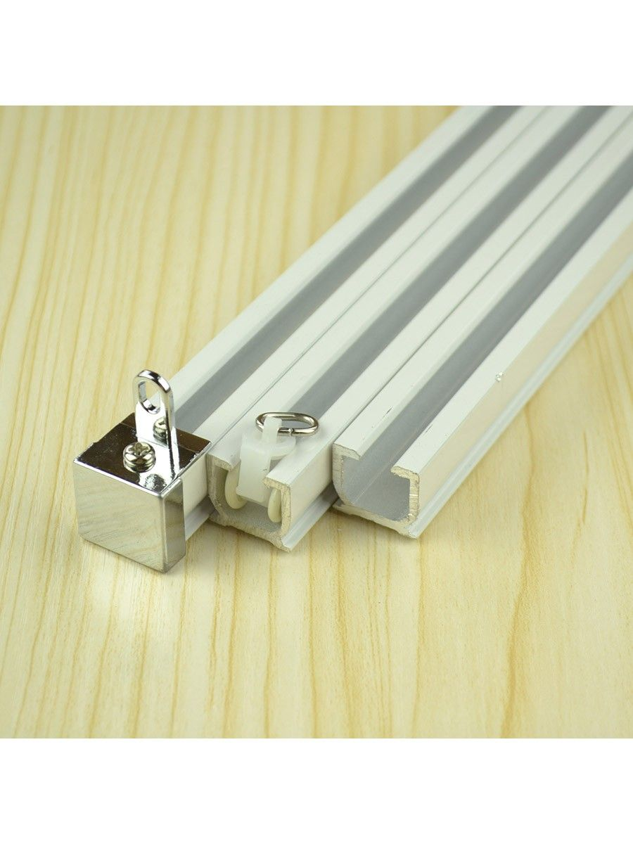 wall mounted double curtain tracks