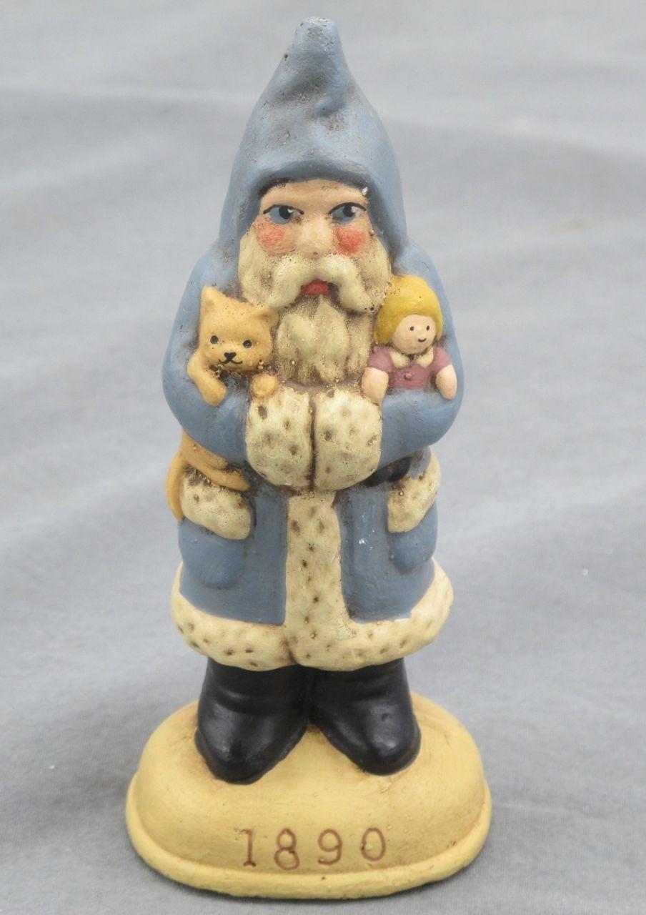 Walnut Ridge Primitives Collectors Edition Santa 1990 Blue Teddy Bear Doll 1890 | Teddy bear ...